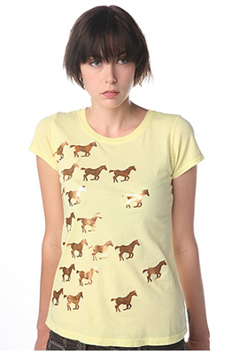 Foiled horses t-shirt