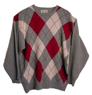Pringle cashmere argyle sweater