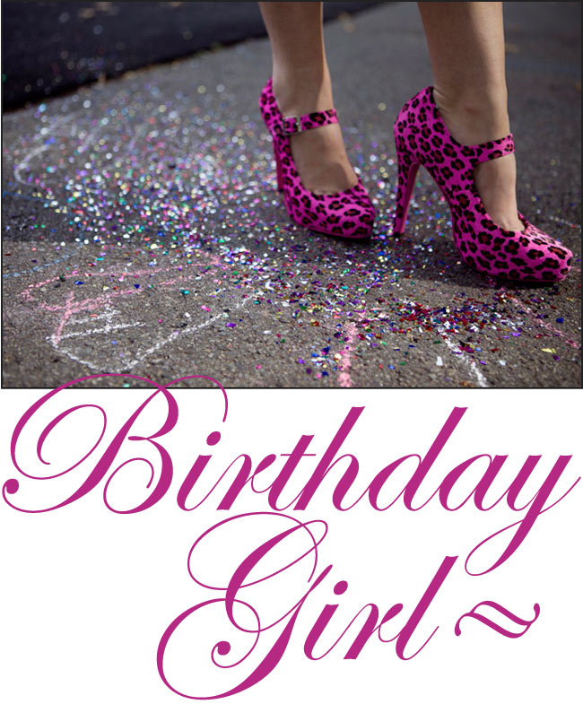 BIRTHDAY GIRL shoes by Gala Darling!