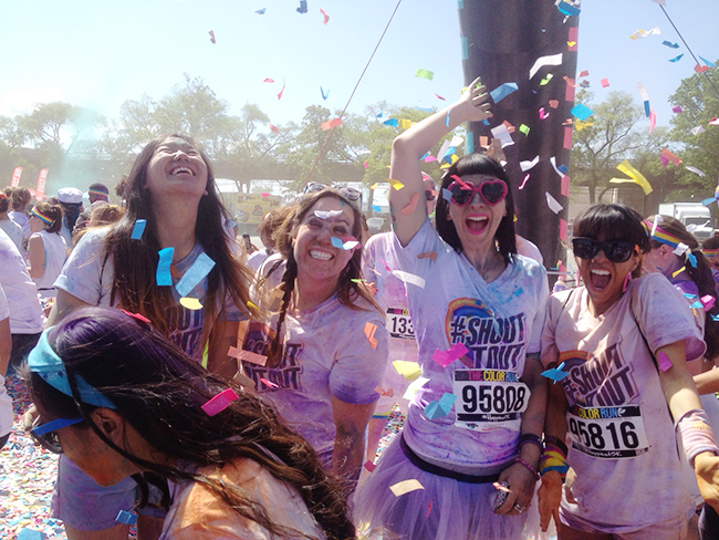 Having the time of my life at The Color Run!
