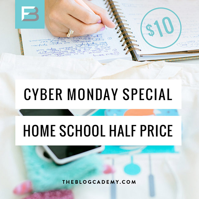 Blogcademy Cyber Monday!